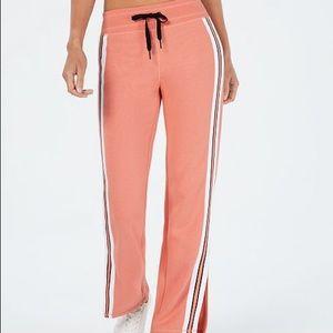 Calvin Klein Performance Striped Slit-Leg Pants